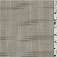 *1 YD PC--Tan Plaid Suiting