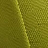 Chartreuse Green Diamond/Checkers Upholstery Fabric