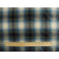 *1 YD PC--Blue/Multi Wool/Cotton Plaid