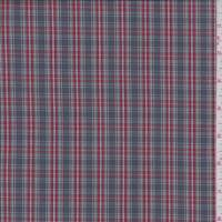 Graphite/Red Plaid Shirting