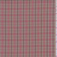 Cocoa Brown/Red Plaid Shirting