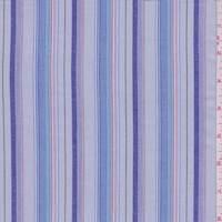 Grey Multi Stripe Shirting