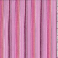Petal Pink Multi Stripe Shirting