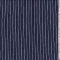Dark Blue Stripe Linen