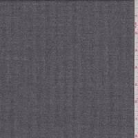 Charcoal Grey Herringbone Twill Wool Suiting