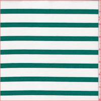 White/Emerald Stripe Ponte Double Knit