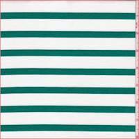 White/Emerald Stripe Ponte Double Knit