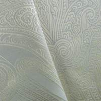 Ivory/ Gray Paisley Damask Home Decorating Fabric