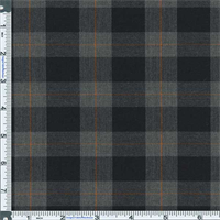 *2 1/4 YD PC--Charcoal/Black Preston Plaid Stretch Polyester