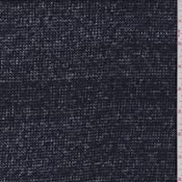 Navy Blue Wool Blend Sweater Knit