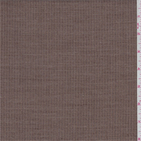 *3 YD PC--Sienna Brown Dotted Stripe Poly Blend Suiting