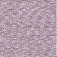 White/Silver/Red Slub Sweater Knit