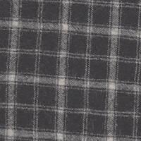 *6 YD PC--Black/Ivory Plaid Wool Gauze