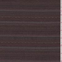 Rust Brown Dobby Stripe Seersucker
