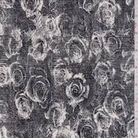 Ivory/Slate Floral ITY Jersey Knit