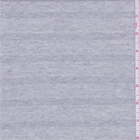*3 YD PC--Light Heather Grey Stripe French Terry Knit