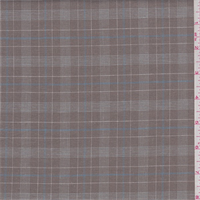 *2 2/3 YD PC--Brown/White/Blue Plaid Shirting