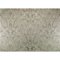 *8 YD PC--Ivory/Gray Cotton Paisley Print Home Decorating Fabric