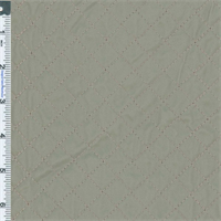 *4 YD PC--Trench Grey Quilted Vinyl Upholstery Fabric