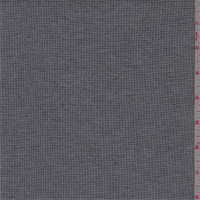*3 3/8 YD PC--Heather Charcoal Mini Waffle Thermal Knit