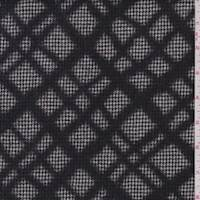 Black Houndstooth Lattice Flannel Jacketing