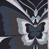 White/Black/Butterfly ITY Jersey Knit