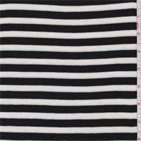 *4 1/2 YD PC--Black/White Stripe Tencel Sweater Knit