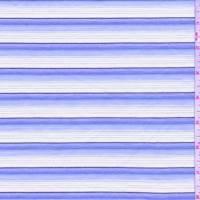 *3 YD PC--Pale Blue/White/Chambray Stripe Shirting