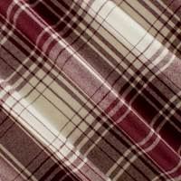 Maroon/Ivory Wool Plaid Flannel