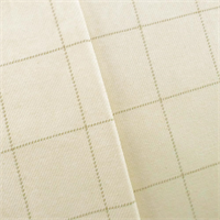 *1 1/2 YD PC--Ivory/Beige Grid Twill Home Decorating Fabric