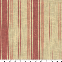 *2 YD PC--Pink Printed Stripe Vintage Linen Home Decorating Fabric