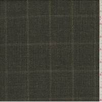 Smoky Grey Tropical Wool Plaid Basket Weave
