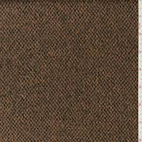 Warm Brown/Black Wool Brushed Twill Jacketing