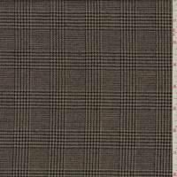 Brown Wool Glenn Plaid