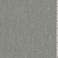 Grey Wool Gabardine Twill