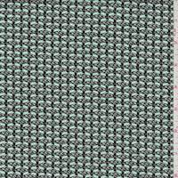 Blue/Black/White Wool Dobby Jacketing