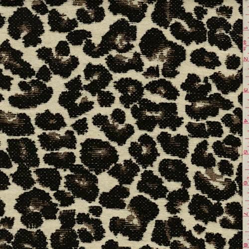 Beige Multi Leopard Chenille Jacquard 72002 Fashion Fabrics