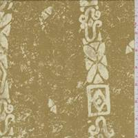 Antique Gold Art Deco Stripe Rayon Challis