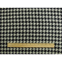 *2 YD PC--Black/Ivory Wool Blend Houndstooth Jacketing