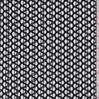 *3 1/2 YD PC--Black Novelty Crochet Lace