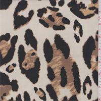 *3 YD PC--Ecru/Brown/Black Animal Print Chiffon