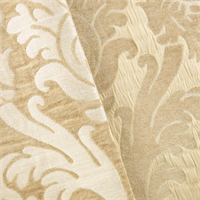 *1YD PC--Beige/Ivory Damask Chenille Home Decorating Fabric