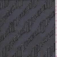 Black/Silver Clip Stripe Chiffon