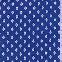 Sapphire Blue Dobbie Print Challis