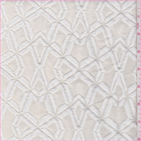 *2 1/2 YD PC--Cream Geometric Matellase Jacquard Knit