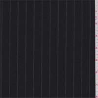 *4 1/2 YD PC--Walnut Black Pinstripe Wool Suiting