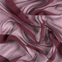 *1 YD PC--Wine Crinkled Silk Chiffon