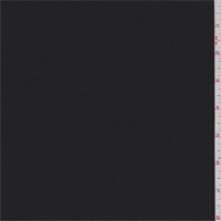 *3 YD PC--Black Polyester Woven Stretch Suiting