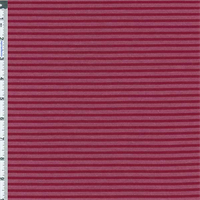 *1 YD PC--Rosewood Red Pique/Jersey Narrow Stripe Knit