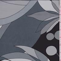 Granite/Black/White Modern Polyester Charmeuse